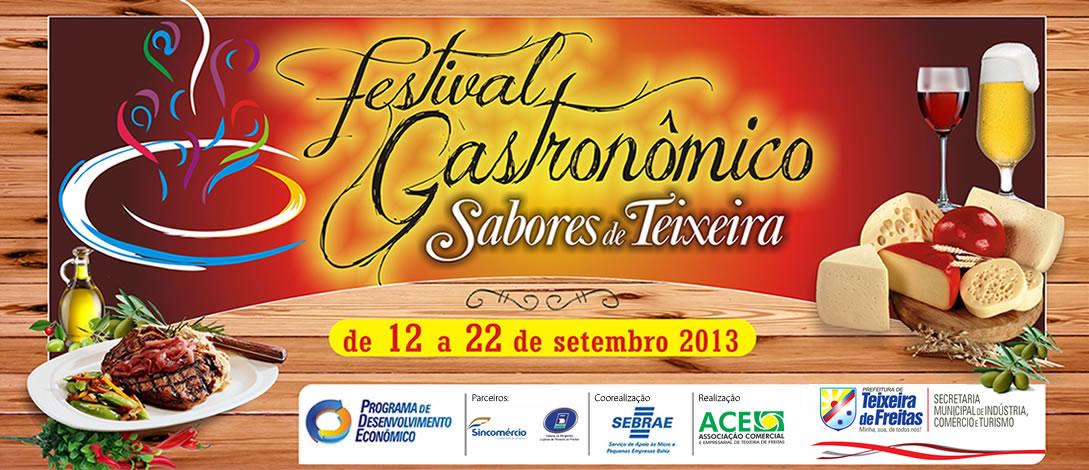 Festival gastronômico sabores de Teixeira de Freitas.