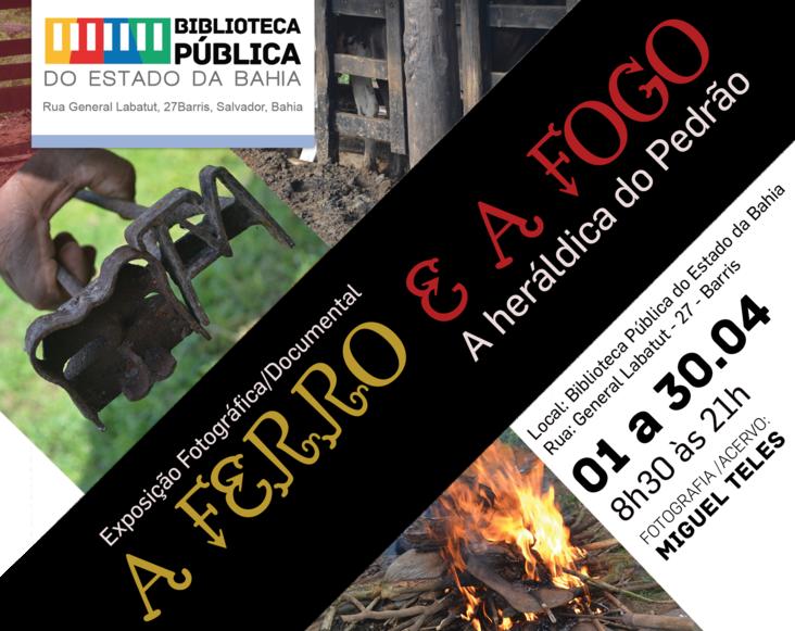 """Exposição """"A Ferro e a Fogo: a heráldica do Pedrão"""" em cartaz na Biblioteca Pública do Estado"""