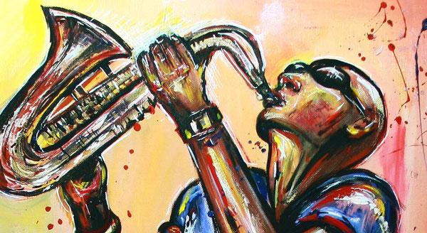 O saxofonista no telhado