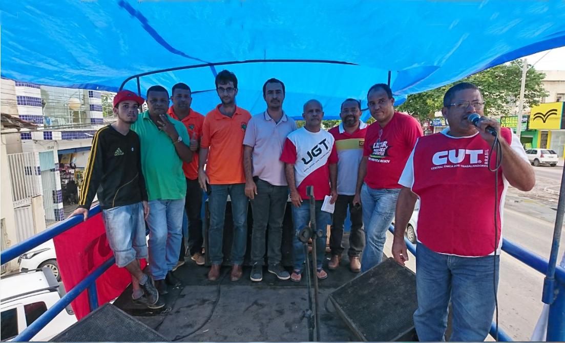 Mobilização reuniu centrais sindicais contra  as novas regras trabalhistas