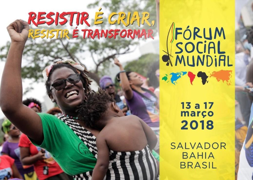 Fórum Social Mundial 2018 reunirá cerca de 60 mil pessoas em Salvador