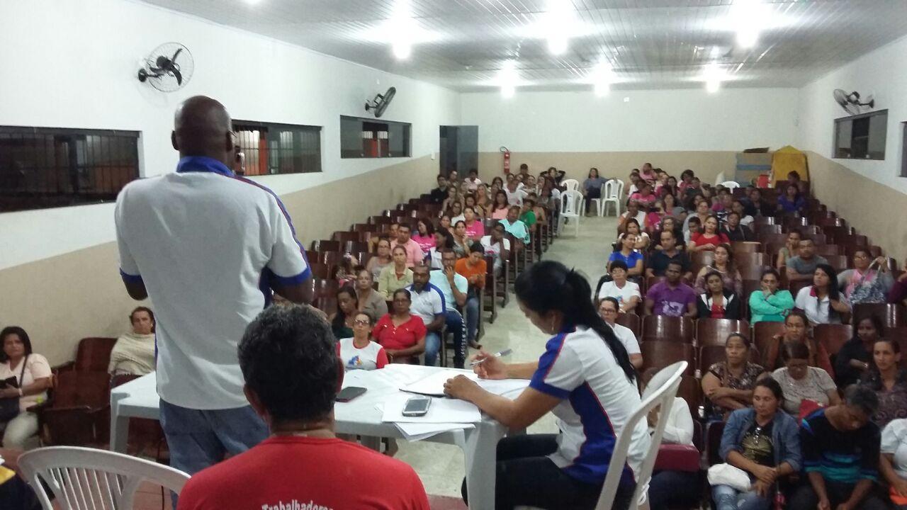 Em assembleia conjunta  servidores da saúde  aprovou proposta da gestão