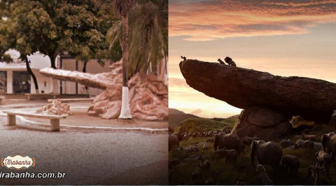 Em Teixeira de Freitas monumento lembra o filme O Rei Leão